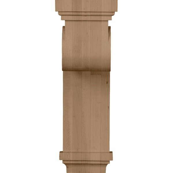 Scroll 16H x 5 1/2W x 8 1/4D Corbel in Hard Maple by Ekena Millwork