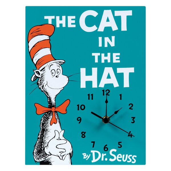 Dr. Seuss The Cat in the Hat Wall Clock by Trend Lab