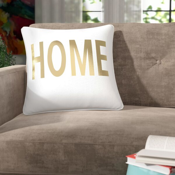 Carnell Home Square Cotton Throw Pillow by Mercury Row