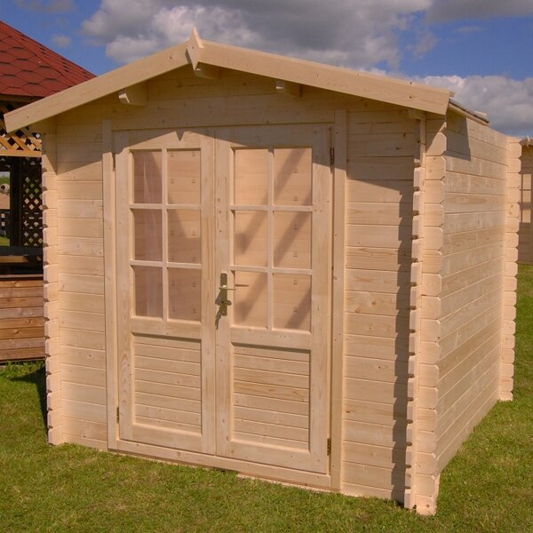 Optima 8 ft. 2 in. W x 8 ft. 2 in. D Wooden Storage Shed by SolidBuild