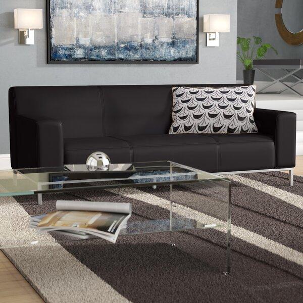 Pyron Contemporary Leather Sofa By Latitude Run