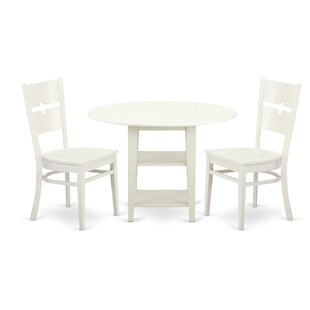 Tyshawn 3 Piece Drop Leaf Breakfast Nook Dining Set By Charlton Home Amazing