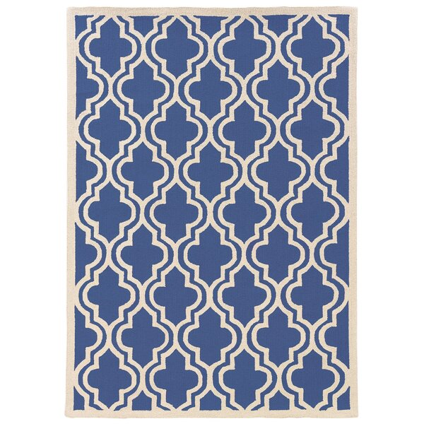 Hand-Hooked Blue/Ivory Area Rug by The Conestoga Trading Co.
