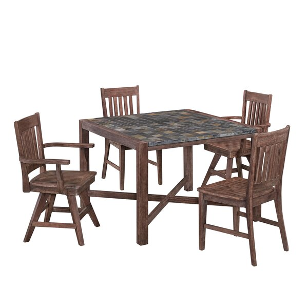 Lakewood 5 Piece Dining Set by Millwood Pines Millwood Pines