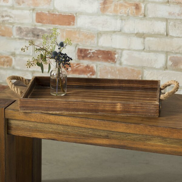 Bishopston Wooden Rectangular Tray by Laurel Foundry Modern Farmhouse