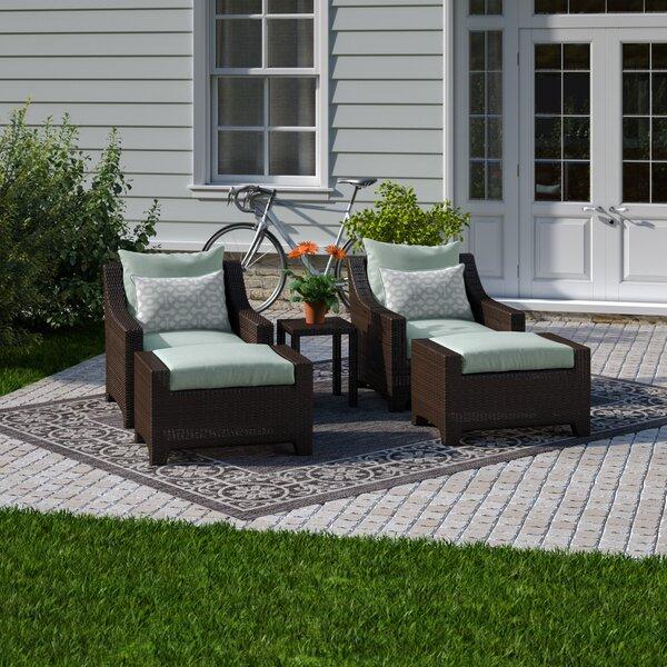 Northridge 5 Piece Conversation Set with Sunbrella Cushions by Three Posts