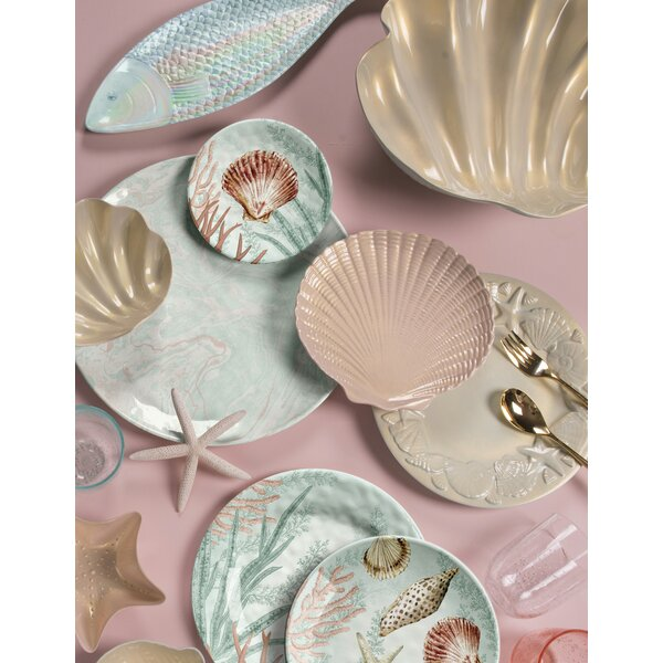 Francisco Coral Reef 12 Piece Melamine Dinnerware Set, Service for 4 by Highland Dunes