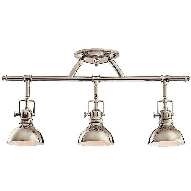 Lighting Tracks For Kitchens kichler rail lights 3-light directional track kit & reviews | wayfair