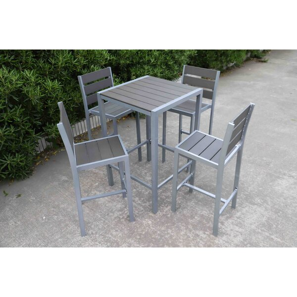 Autumn 5 Piece Bar Height Dining Set by Breakwater Bay
