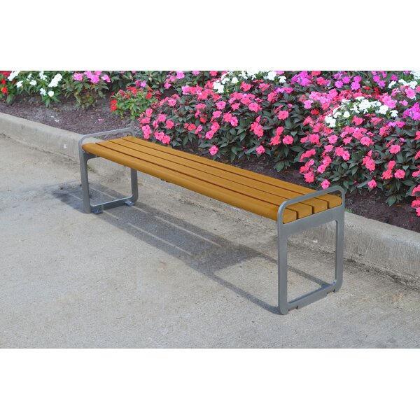 Plaza Backless Steel Picnic Bench by Frog Furnishings
