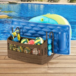 Pool Float Wicker Deck Box