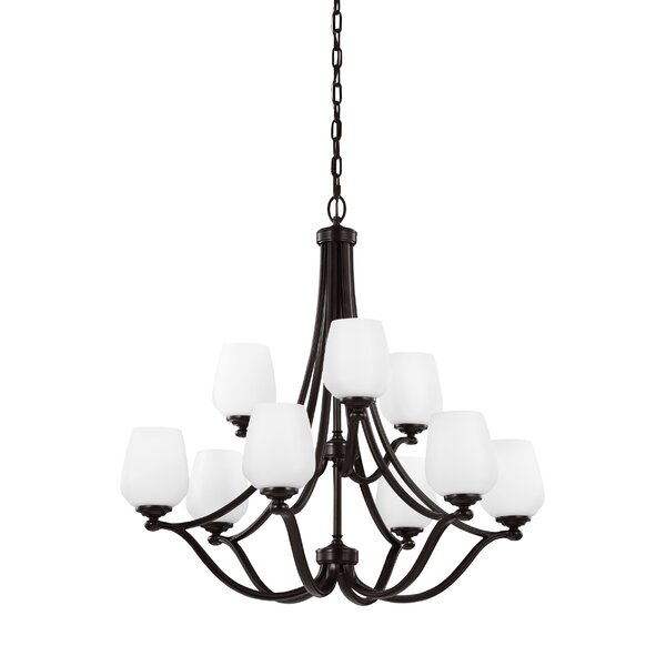 Eyers 9-Light Shaded Tiered Chandelier by Darby Home Co Darby Home Co