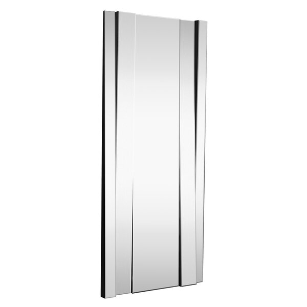 Large Modern Rectangular Full Length Angled Beveled Glass Wall Mirror by Majestic Mirror