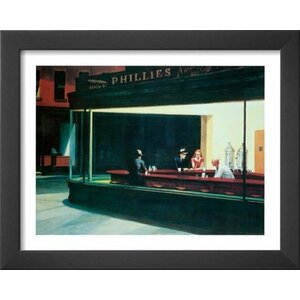 Nighthawks by Edward Hopper Framed Painting Print by Buy Art For Less