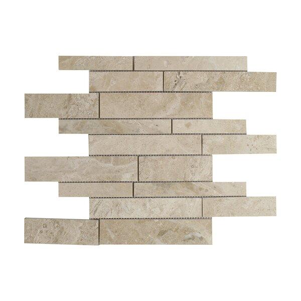 Diana Royal Strip Marble Mosaic Tile in Beige by Seven Seas