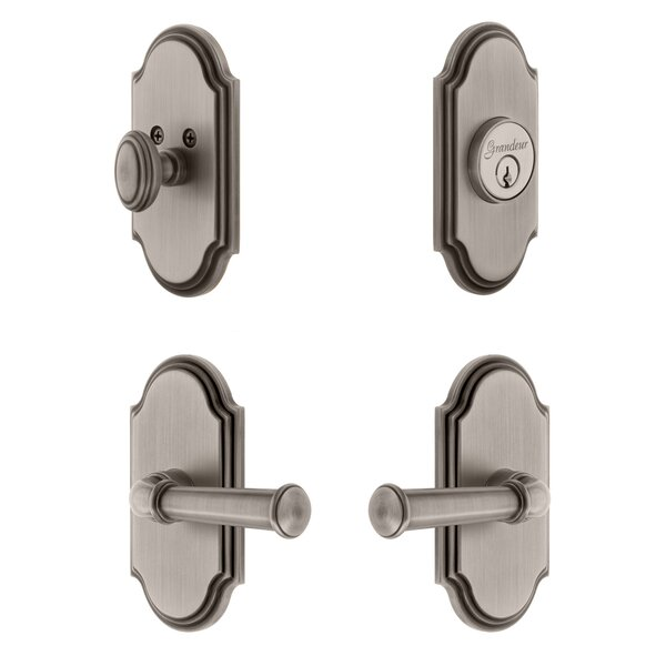 Arc Single Cylinder Knob Combo Pack with Georgetown Lever by Grandeur