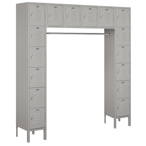 6 Tier 6 Wide Employee Locker By Salsbury Industries.