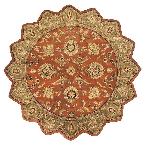 Stanford Dark Rust Rug by Charlton Home