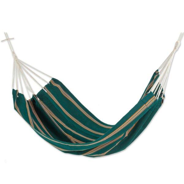Double Person Fair Trade Portable Happy Beach Days Hand-Woven Central American Acrylic Indoor And Outdoor Hammock by Novica