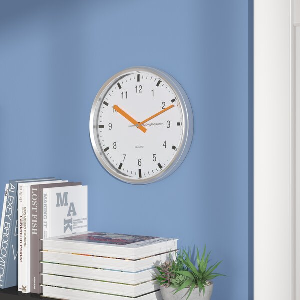 10 Silent Sweep Wall Clock by Wrought Studio