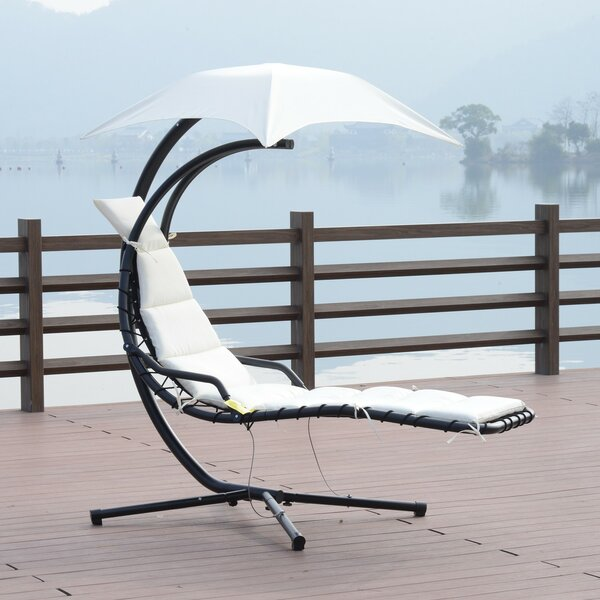 Rosa Hanging Chaise Lounger with Stand by Freeport Park