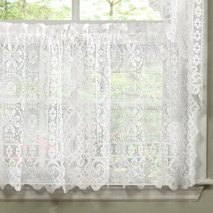 Gentil Bansal Floral Heavy Lace Kitchen Tier Curtain
