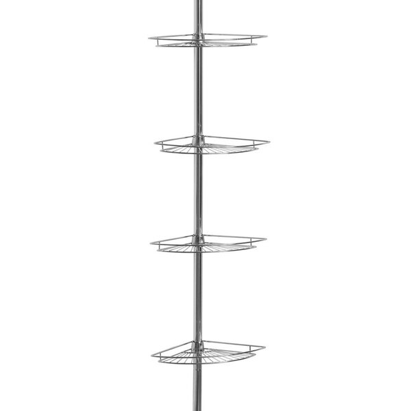 4 Tier Tension Pole Corner Shower Caddy by Sweet Home Collection