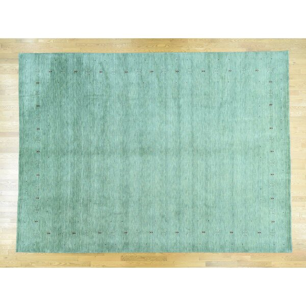 One-of-a-Kind Becker Folk Art Handwoven Green Wool Area Rug by Isabelline