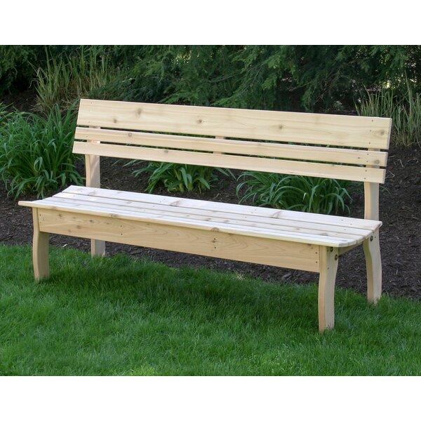 Floodwood Wooden Garden Bench by August Grove