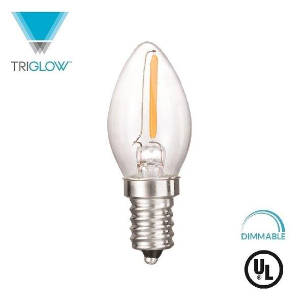 7W Equivalent E12 LED Candle Light Bulb by TriGlow