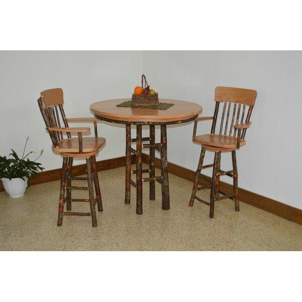 Yorba 3 Piece Solid Wood Dining Set by Loon Peak