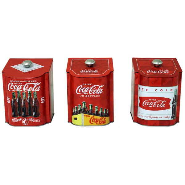 Coca-Cola Tin qt. Kitchen Canister (Set of 3) by Tin Box Company