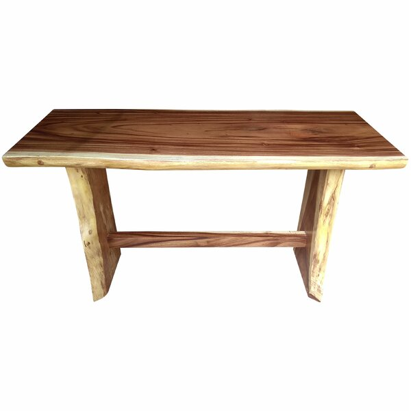 Cardoza Bar Height Solid Wood Dining Table by Loon Peak Loon Peak