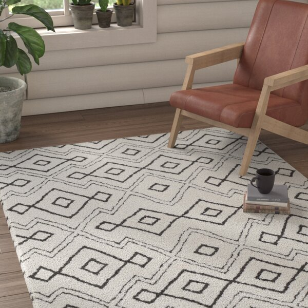 Rhodes Bohemian Ivory/Black Southwestern Area Rug by Union Rustic