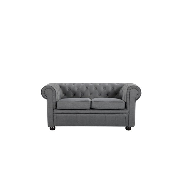 Mikkelson Chesterfield Loveseat by Alcott Hill