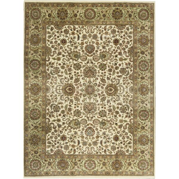 One-of-a-Kind Mountain King Hand-Knotted Wool Ivory/Light Green Area Rug by Bokara Rug Co., Inc.