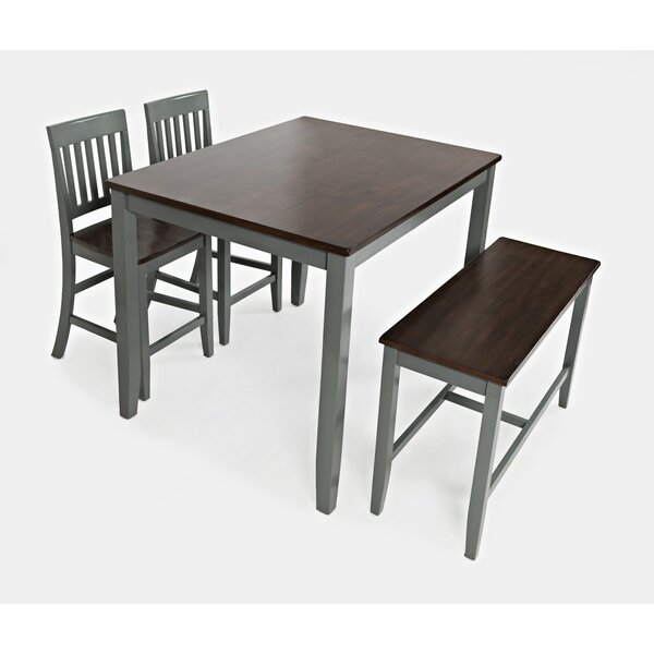 Shepshed 4 Piece Counter Height Dining Set by Alcott Hill