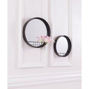 Williston Forge Hermila Round Shelf Accent Mirror