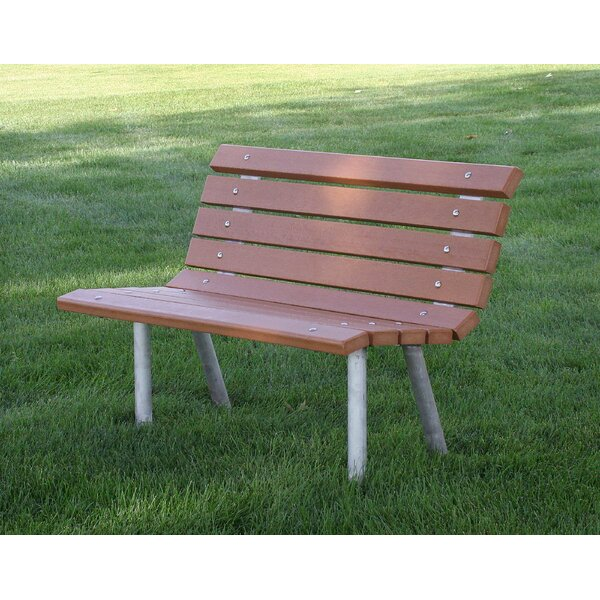 St. Pete Recycled Plastic Park Bench by Frog Furnishings