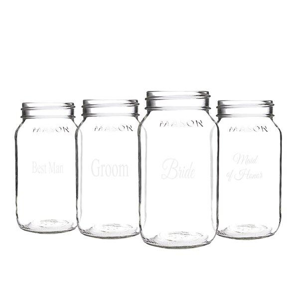 Isadora Party Mason Jar (Set of 4) by Charlton Home