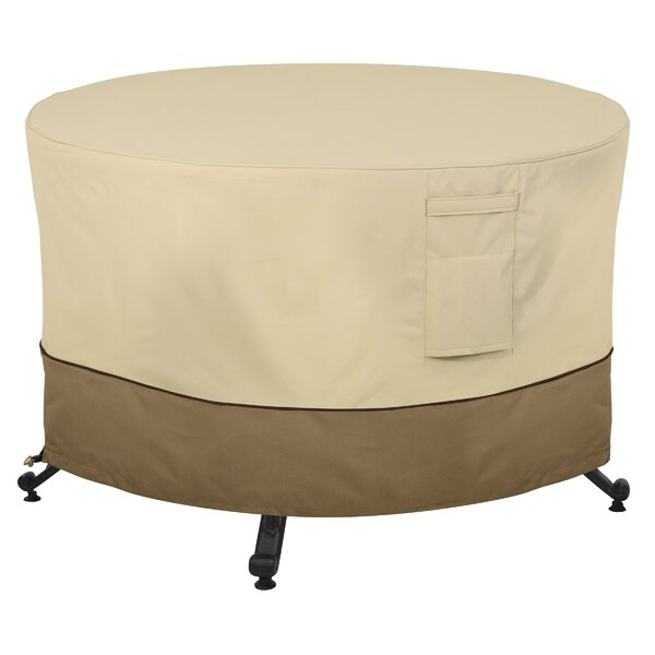Round Durable and Water Resistant Outdoor Fire Pit Cover by Red Barrel Studio