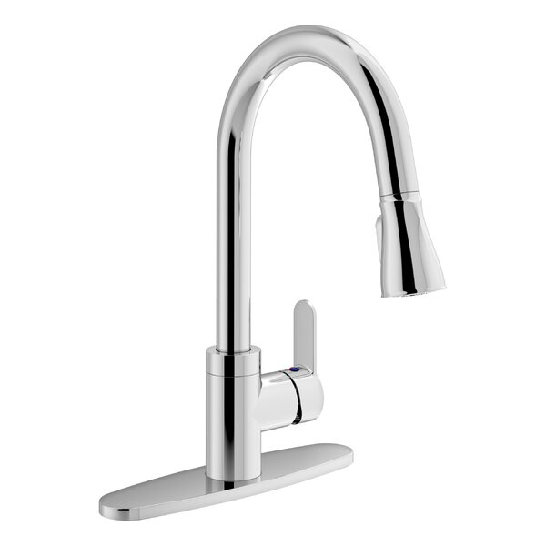 Identity Pull Down Touch Single Handle Kitchen Faucet by Symmons