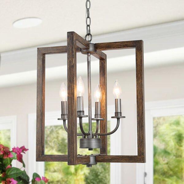 Tristin 4 - Light Lantern Rectangle Chandelier by Gracie Oaks Gracie Oaks