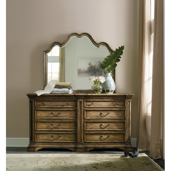 Auberose 8 Drawer Double Dresser with Mirror by Hooker Furniture