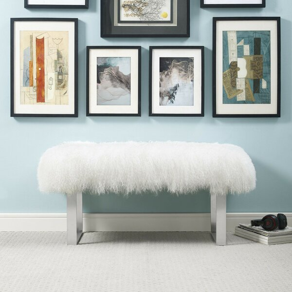 Sonja Upholstered Bench by Everly Quinn