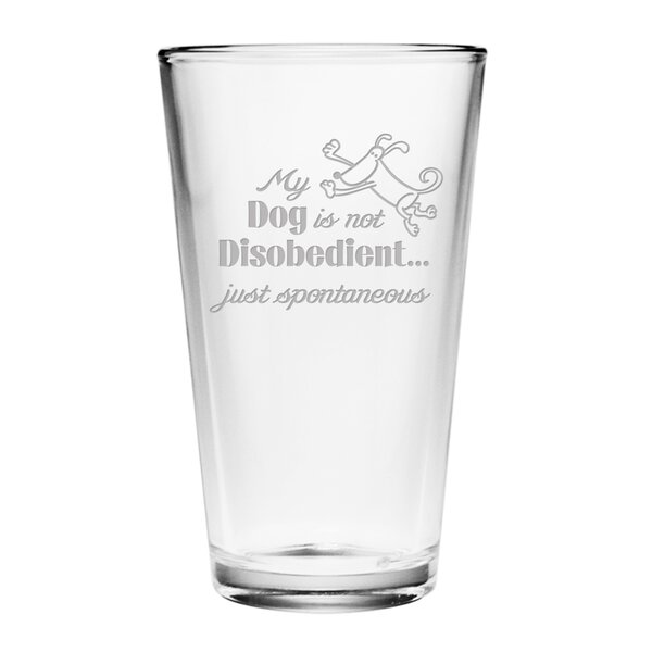 Just Spontaneous Pint Glass (Set of 4) by Susquehanna Glass