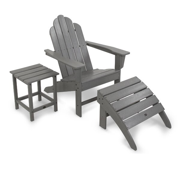 Long Island Resin Adirondack Chair with Ottoman by POLYWOOD POLYWOOD®