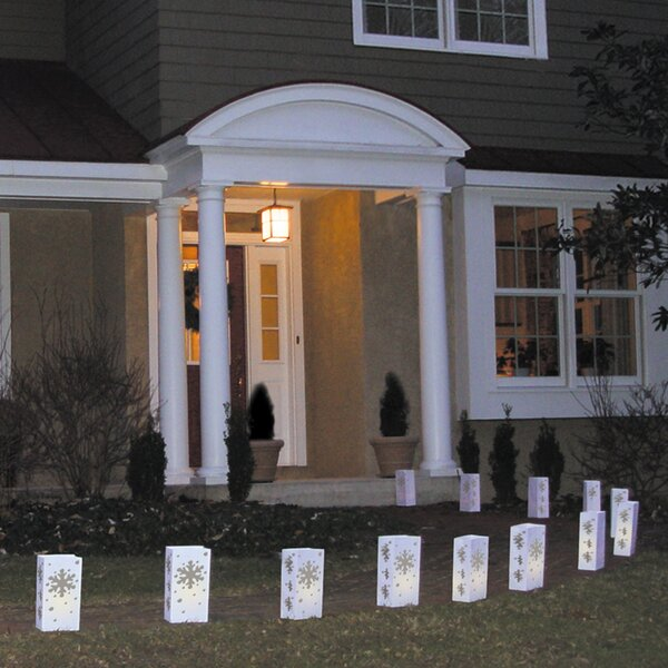 Snowflake Luminary (Set of 12) by Luminarias