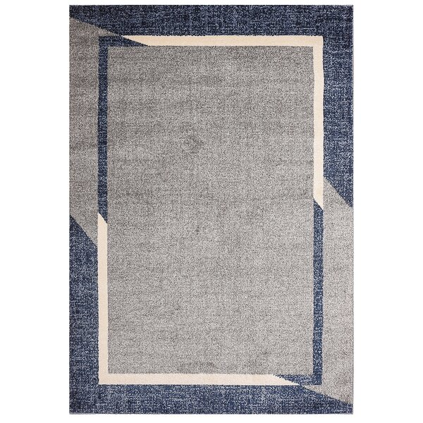 Fennel Heide Border Design Gray/Blue Rug