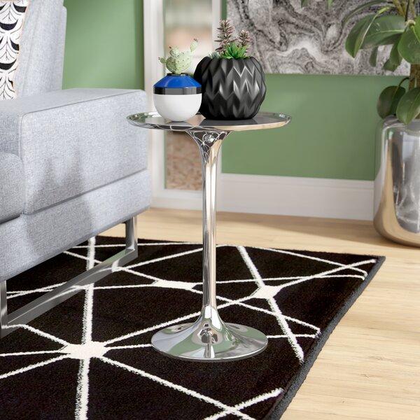 Silverd Pedestal End Table By Wade Logan